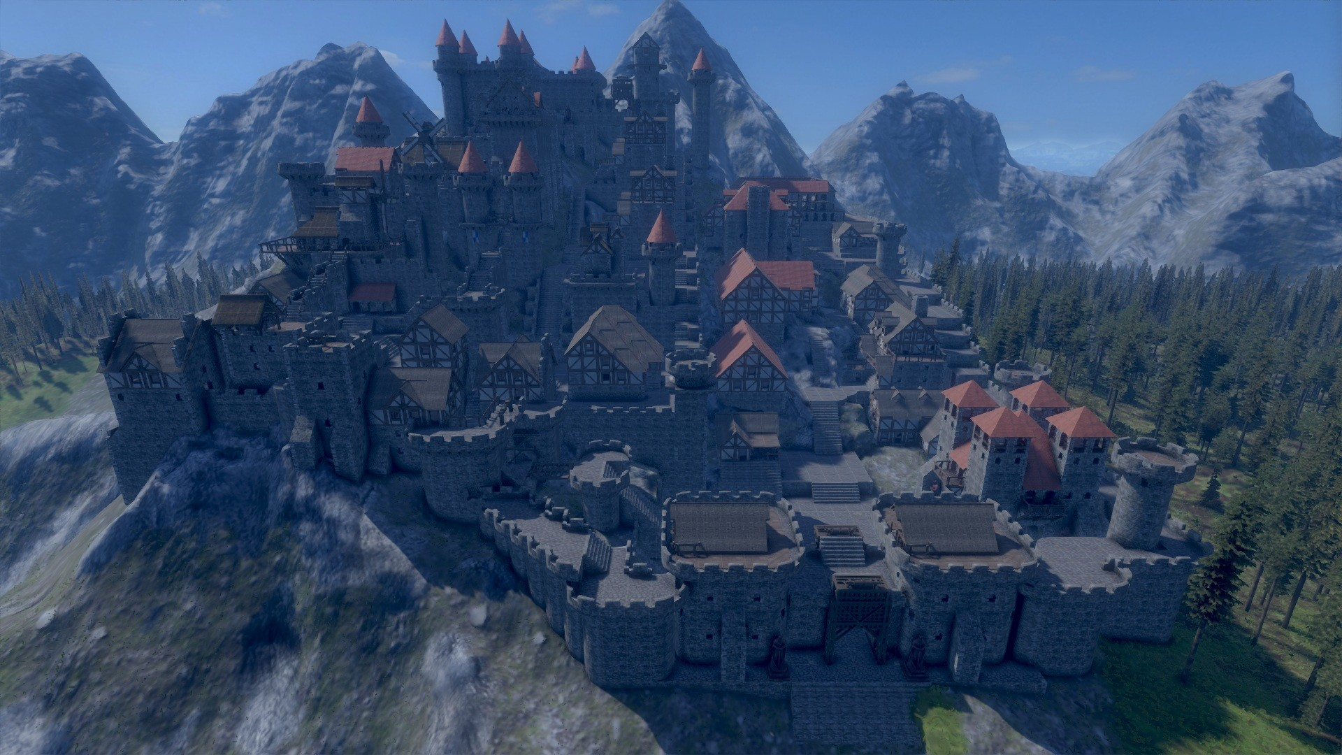 background - Castle Siege mód v Medieval Engineers