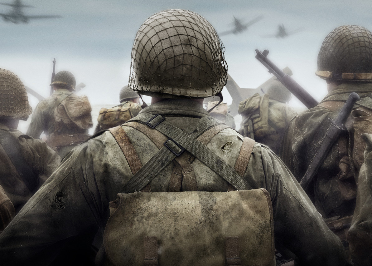 background - Drsný válečný zážitek v Call of Duty: World War II