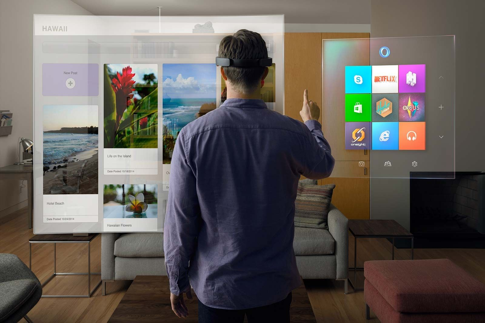 background - HoloLens od Microsoftu jdou do prodeje!