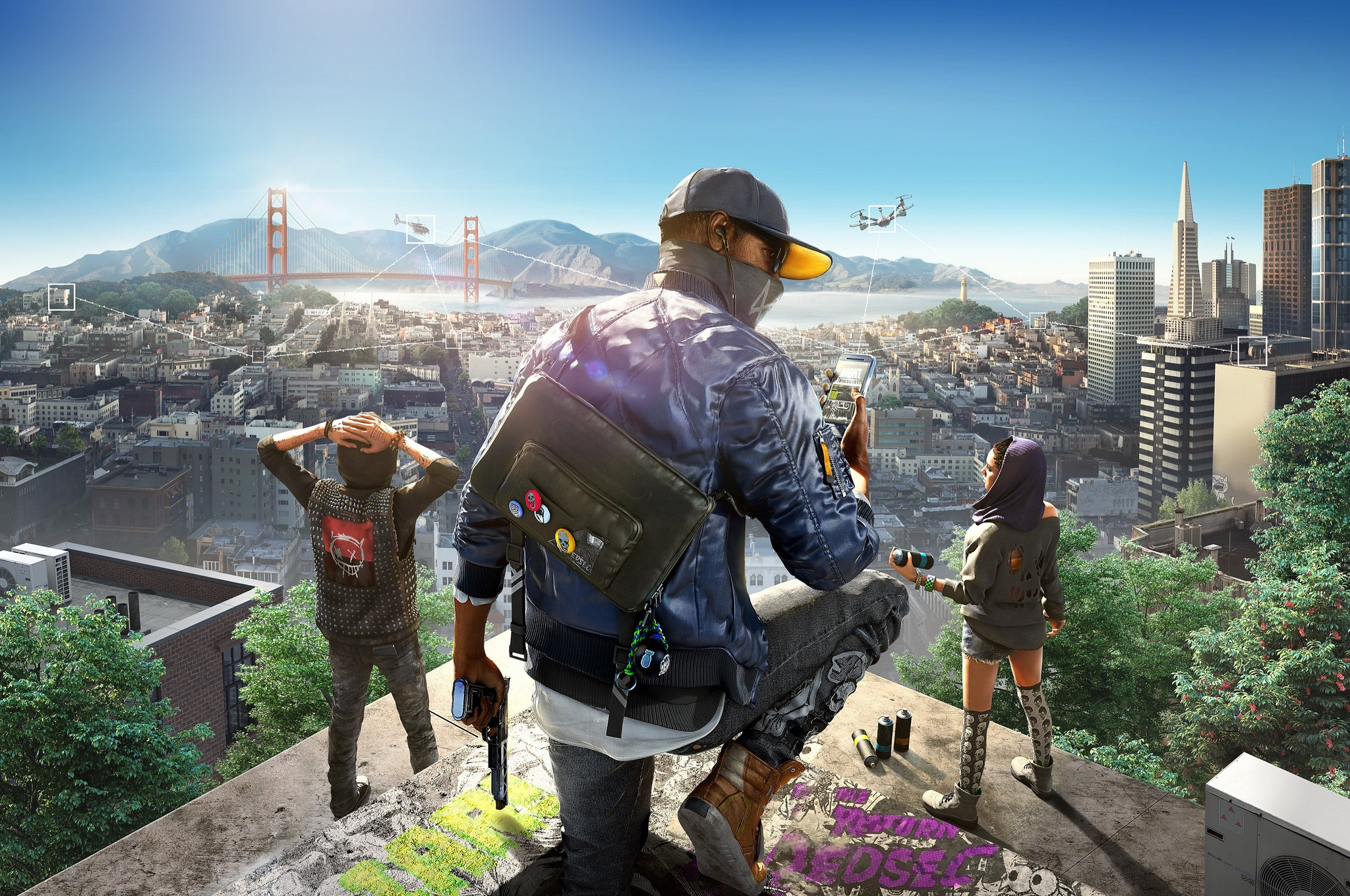 background - Oficiálne oznámené Watch Dogs 2!