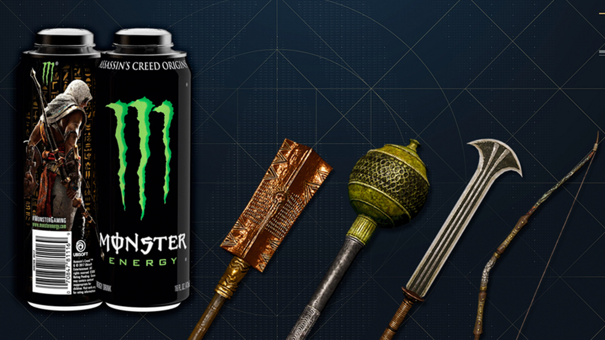 Ubisoft spolupracuje s Monster Energy