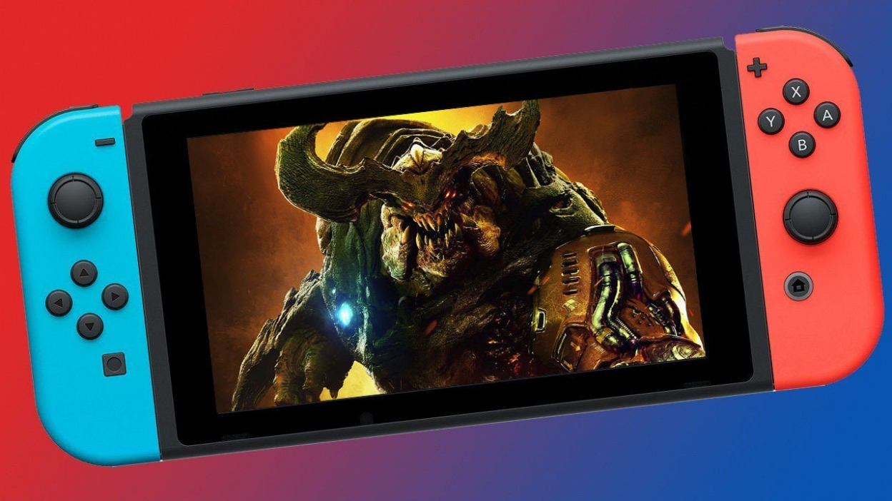 Gameplay z Doomu na Nintendu Switch